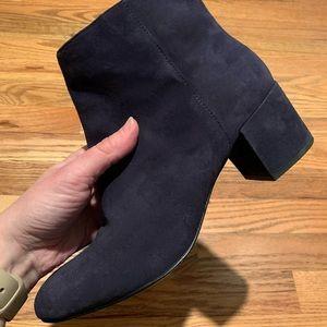 Banana Republic blue suede booties